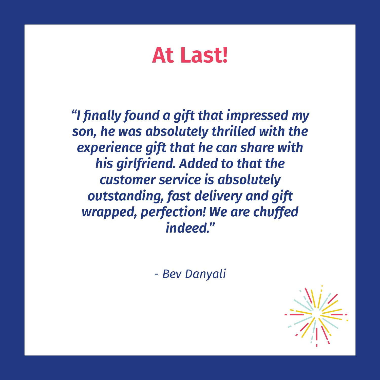 At last-Chuffed Customer review