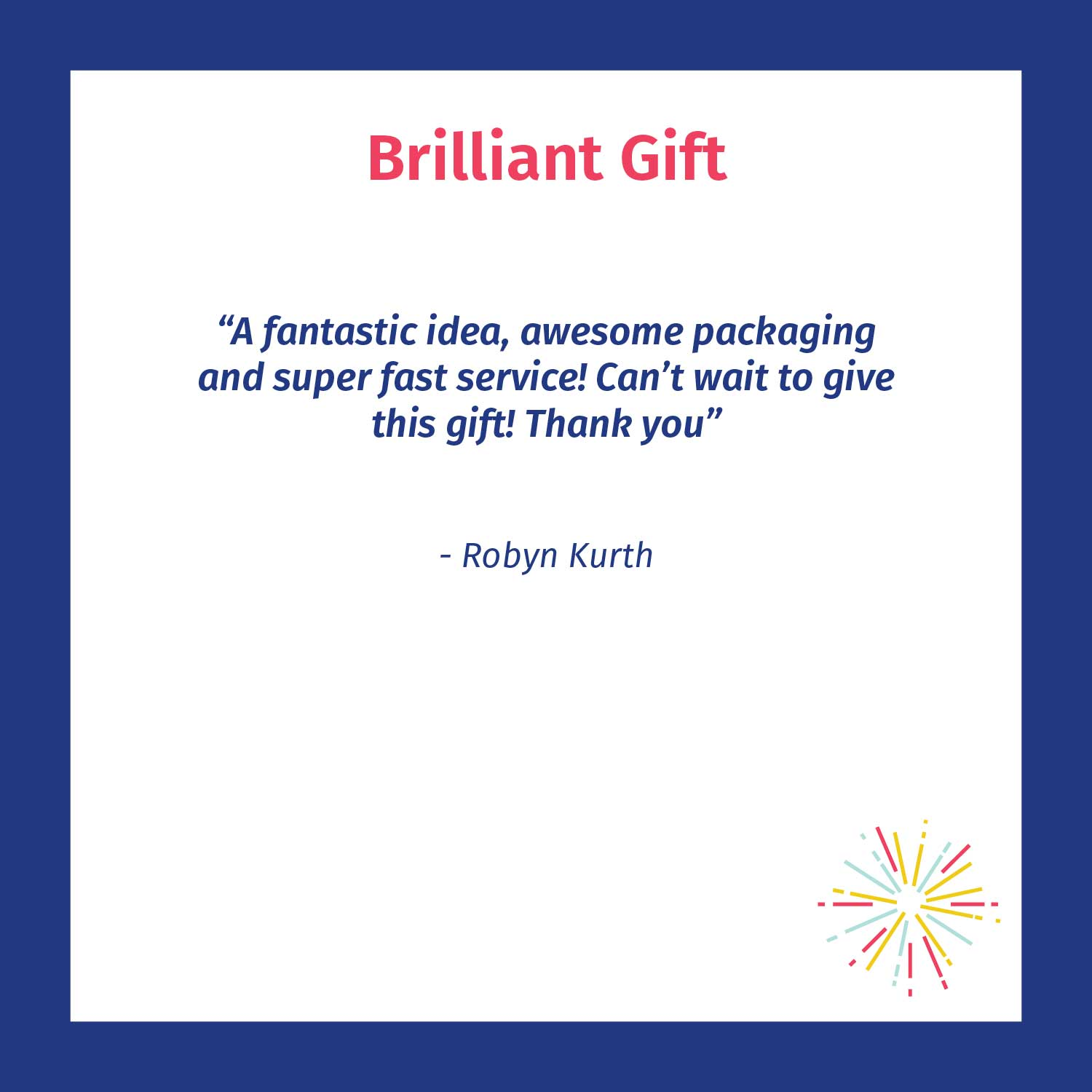 Brilliant gift - Chuffed customer review